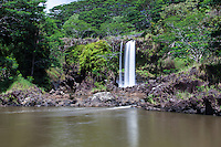 Pe'epe'e Falls waterfall, Hilo, Big Island.