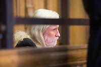 Der Angeklagte Rolf Zielezinski vor Prozessbeginn // Im Berliner Landgericht beginnt der Prozess gegen Rolf Zielezinski nach dem Mord an Luke Holland.