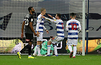 EDIT: Lyndon Dykes of Queens Park Rangers celebrates with Dominic Ball of Queens Park Rangers after Queens Park Rangers third goal during Queens Park Rangers vs Rotherham United, Sky Bet EFL Championship Football at The Kiyan Prince Foundation Stadium on 24th November 2020