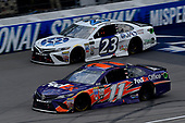 Monster Energy NASCAR Cup Series<br /> Pure Michigan 400<br /> Michigan International Speedway, Brooklyn, MI USA<br /> Sunday 13 August 2017<br /> Denny Hamlin, Joe Gibbs Racing, FedEx Office Toyota Camry and Corey LaJoie, BK Racing, JAS Expedited Trucking Toyota Camry<br /> World Copyright: Rusty Jarrett<br /> LAT Images