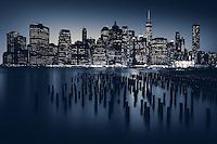Manhattan skyline in New York city, New York