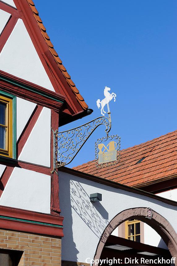 Gasthaus weßes Roß in Großheubach am Main, Bayern, Deutschland