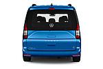 Straight rear view of 2021 Volkswagen Caddy California-Maxi 5 Door Camper Van Rear View  stock images