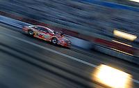 Apr 7, 2006; Las Vegas, NV, USA; NHRA Pro Stock driver Mike Thomas launches in his Nitro Fish Dodge Stratus during qualifying for the Summitracing.com Nationals at Las Vegas Motor Speedway in Las Vegas, NV. Mandatory Credit: Mark J. Rebilas