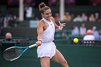 2nd July 2021; Wimbledon, SW London. England; Wimbledon Tennis Championships, day 5;   Maria Sakkari of Greece