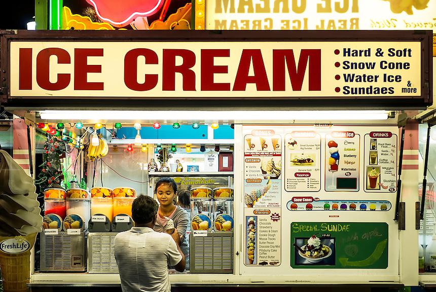 Ice cream stand, Atlantic City, New Jersey, USA