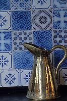 Europe/France/Normandie/Haute-Normandie/27/Eure/Giverny : Dans la maison de Claude Monet - Détail de la cuisine