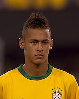 Brazil forward Neymar (11). Brazil  defeated the US men's national team, 2-0, in a friendly at Meadowlands Stadium on August 10, 2010.