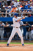 Christian Hicks (9) of the Florida Gators at bat against the Wake Forest Demon Deacons in Game One of the Gainesville Super Regional of the 2017 College World Series at Alfred McKethan Stadium at Perry Field on June 10, 2017 in Gainesville, Florida.  The Gators defeated the Demon Deacons 2-1 in 11 innings.  (Brian Westerholt/Four Seam Images)