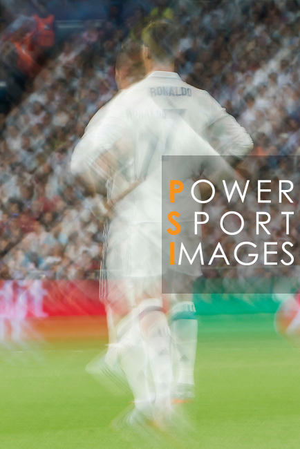 Cristiano Ronaldo of Real Madrid in action during their 2016-17 UEFA Champions League Semifinals 1st leg match between Real Madrid and Atletico de Madrid at the Estadio Santiago Bernabeu on 02 May 2017 in Madrid, Spain. Photo by Diego Gonzalez Souto / Power Sport Images
