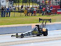 May 6, 2018; Commerce, GA, USA; NHRA top fuel driver Leah Pritchett during the Southern Nationals at Atlanta Dragway. Mandatory Credit: Mark J. Rebilas-USA TODAY Sports