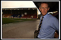 06/08/2002                   Copyright Pic : James Stewart.File Name : stewart-st johnstone flood 01.ST JOHNSTONE MANAGER BILLY STARK SURVEYS  THE WATER THAT FELL ONTO MCDIARMID PARK DURING A FLASH THUNDERSTORM......Payments to :-.James Stewart Photo Agency, 19 Carronlea Drive, Falkirk. FK2 8DN      Vat Reg No. 607 6932 25.Office     : +44 (0)1324 570906     .Mobile  : +44 (0)7721 416997.Fax         :  +44 (0)1324 570906.E-mail  :  jim@jspa.co.uk.If you require further information then contact Jim Stewart on any of the numbers above.........