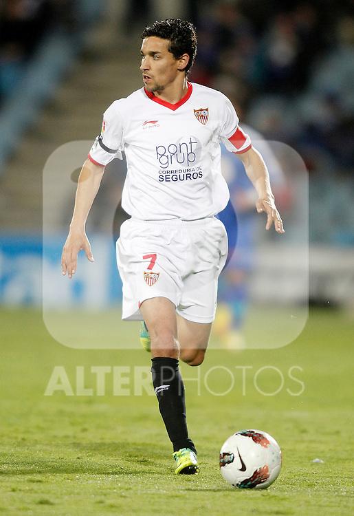 Sevilla's Jesús Navas during La Liga match. April 16, 2012. (ALTERPHOTOS/Alvaro Hernandez)