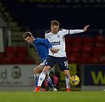 23.12.2020 St Johnstone v Rangers: Rangers midfielder Steven Davis with David Wotherspoon