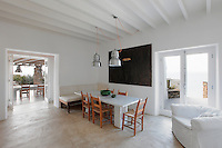 cycladic dining area