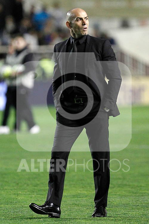 Rayo Vallecano's coach Paco Jemez during La Liga match. March 3,2016. (ALTERPHOTOS/Acero)
