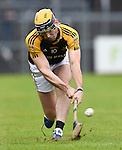 Niall Deasy  of Ballyea takes a sideline cut during their senior county final against Clonlara at Cusack Park. Photograph by John Kelly.