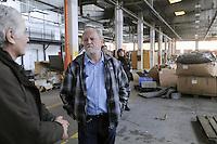 Trezzano sul Naviglio (Milano) - Ri-MAFLOW, Cooperativa Sociale ONLUS fondata all'inizio del 2013 dai lavoratori licenziati di MAFLOW  e di altre aziende in chiusura, oltre che da precari, disoccupati e pensionati, sorta nei capannoni del vecchio sito industriale chiuso alla fine del 2012; visita di Joao Pedro Stedile, fra i fondatori e coordinatore di MST, il Movimento dos Trabalhadores Rurais Sem Terra del Brasile<br /> <br /> Trezzano sul Naviglio (Milan) - Re-MAFLOW, Social Cooperative Onlus founded in early 2013 by the dismissed workers of MAFLOW and other companies in closing, as well as temporary workers, unemployed and pensioners, bornin the sheds of the old industrial site closed at the end of 2012; visit of Joao Pedro Stedile, one of the founders and coordinator of the MST, the Landless Workers' Movement in Brazil