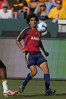 Medhi Ballouchy eyes the ball. The Los Angeles Galaxy defeated Real Salt Lake, 3-2, at the Home Depot Center in Carson, CA on Sunday, June 17, 2007.