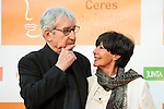 Jose Sacristan and Concha Velasco poses for the photographers during 2015 Theater Ceres Awards photocall at Merida, Spain, August 27, 2015. <br /> (ALTERPHOTOS/BorjaB.Hojas)