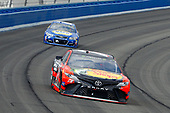 2017 Monster Energy NASCAR Cup Series<br /> Auto Club 400 Auto Club Speedway, Fontana, CA USA<br /> Sunday 26 March 2017<br /> Martin Truex Jr, Bass Pro Shops/TRACKER BOATS Toyota Camry and Chase Elliott<br /> World Copyright: Russell LaBounty/LAT Images<br /> ref: Digital Image 17FON1rl_5911