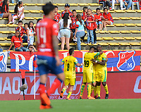 MEDELLÍN- COLOMBIA, 09-09-2018.Wilmar Jordán jugador  de Leones celebra su gol contra el Independiente Medellin durante partido por la fecha 9 de la Liga Águila II 2018 jugado en el estadio Atanasio Girardot de la ciudad de Medellín. /Wilmar Jordan  player  of Leones  celebrates his goal agaisnt Independiente Medellin during the match for the date 9 of the Liga Aguila II 2018 played at Atanasio Girardot Stadium in Medellin  city. Photo: VizzorImage / Leon Monsalve/ Contribuidor