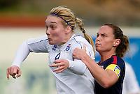 Margret Lara Vidarsdottir, Christie Rampone.  The USWNT defeated Iceland, 1-0, at Ferreiras, Portugal.