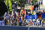 The chasing pack on the first circuit of Harrogate during the Women Elite Road Race of the UCI World Championships 2019 running 149.4km from Bradford to Harrogate, England. 28th September 2019.<br /> Picture: Eoin Clarke | Cyclefile<br /> <br /> All photos usage must carry mandatory copyright credit (© Cyclefile | Eoin Clarke)
