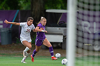 SANFORD, FL - APRIL 3: Courtney Petersen of the Orlando Pride battles for the ball during a game between Florida State Seminoles and Orlando Pride at Sylvan Park Training Center on April 3, 2021 in Sanford, Florida.