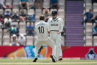 Neil Wagner, New Zealand celebrates the wicket of Ravindra Jadeja, India during India vs New Zealand, ICC World Test Championship Final Cricket at The Hampshire Bowl on 23rd June 2021