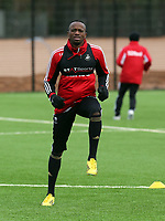 Tuesday 15 January 2013<br /> Pictured: New signing Roland Lamah<br /> Re: Swansea City FC training near the Liberty Stadium ahead of their Cup game against Arsenal at the Emirates Stadium.