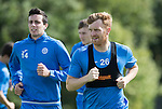 St Johnstone Training….26.08.16<br />Liasm Craig and Joe Shaughnessy pictured during training this morning at McDiarmid Park ahead of tomorrow's trip to Inverness with Steven MacLean<br />Picture by Graeme Hart.<br />Copyright Perthshire Picture Agency<br />Tel: 01738 623350  Mobile: 07990 594431
