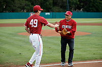 Stanford, CA - April 27, 2019:  Stanford Baseball wins 13-3 over Arizona on Fireworks Night at Sunken Diamond.