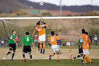 2010 US Soccer Development Academy Winter Showcase U17/18 Cosmos Academy West vs Houston Dynamo at Reach 11 Soccer Complex in Phoenix, Arizona in December of  2010.