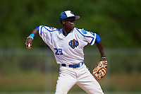 Jaden Brown during the WWBA World Championship at the Roger Dean Complex on October 18, 2018 in Jupiter, Florida.  Jaden Brown is a shortstop from Mississauga, Ontario who attends St. Marcellinus Secondary School and is committed to Kentucky.  (Mike Janes/Four Seam Images)