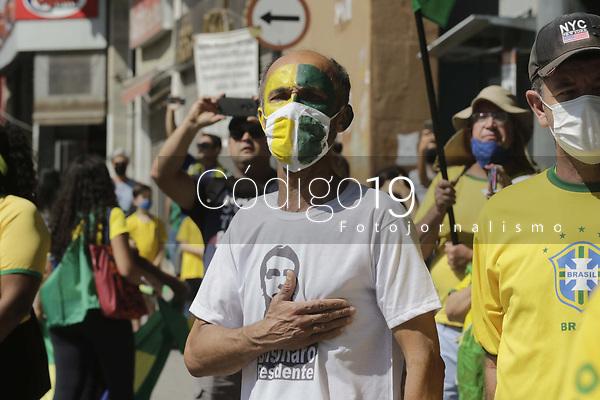 Campinas (SP), 07/09/2021 - Manifestacoes 7 de Setembro - Manifestantes no centro da cidade de Campinas (SP), nesta terca-feira (7). As manifestacoes pro e contra o Governo Federal, estao sendo realizadas em pontos diferentes da regiao central. O grupo que nao apoia Jair Bolsonaro se reuniu no Largo do Para e os manifestantes pro Presidente no Largo do Rosario. (Foto: Denny Cesare/Codigo 19/Codigo 19)