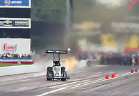 Aug 31, 2019; Clermont, IN, USA; NHRA top fuel driver Jordan Vandergriff during qualifying for the US Nationals at Lucas Oil Raceway. Mandatory Credit: Mark J. Rebilas-USA TODAY Sports
