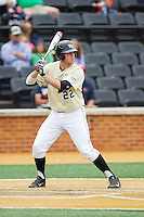 Will Craig (22) of the Wake Forest Demon Deacons at bat against the Virginia Cavaliers at Wake Forest Baseball Park on May 17, 2014 in Winston-Salem, North Carolina.  The Demon Deacons defeated the Cavaliers 4-3.  (Brian Westerholt/Four Seam Images)