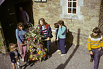 Abbotsbury garland Day Dorset. Annually May 13th. 1973.