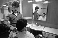 - Italian Navy, Vittorio Veneto cruiser, the barber's shop (May 1984)<br /> <br /> - Marina Militare Italiana, incrociatore Vittorio Veneto, la barberia (Maggio 1984)