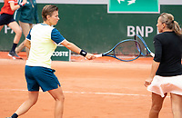 Paris, France, 30 May, 2020, Tennis, French Open, Roland Garros, Womans doubles,: Demi Schuurs (NED) (L) and Kveta Peschke (CZE)<br /> Photo: Fred Mullane/tennisimages.com