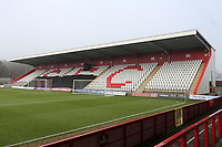 The North Stand during Stevenage vs Swansea City, Emirates FA Cup Football at the Lamex Stadium on 9th January 2021