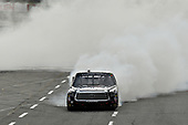 NASCAR Camping World Truck Series <br /> Texas Roadhouse 200<br /> Martinsville Speedway, Martinsville VA USA<br /> Saturday 28 October 2017<br /> Noah Gragson, Switch Toyota Tundra celebrates the win with a burn out<br /> World Copyright: Scott R LePage<br /> LAT Images<br /> ref: Digital Image lepage-171028-mart-4357