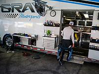 Apr 23, 2017; Baytown, TX, USA; NHRA pro stock driver Tanner Gray during the Springnationals at Royal Purple Raceway. Mandatory Credit: Mark J. Rebilas-USA TODAY Sports