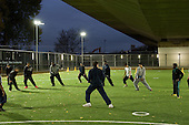 Kickz football training session run by the Arsenal community team at the new pitches under the Westway at Westminster Academy  Sports Centre, Harrow Road.
