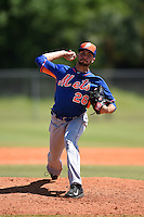 New York Mets pitcher Craig Missigman (26) during a minor league spring training game against the St. Louis Cardinals on April 1, 2015 at the Roger Dean Complex in Jupiter, Florida.  (Mike Janes/Four Seam Images)