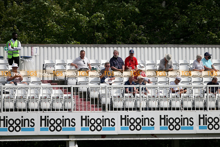 Spectators look on ahead from the Tom Pearce stand ahead of Essex CCC vs Nottinghamshire CCC, LV Insurance County Championship Group 1 Cricket at The Cloudfm County Ground on 3rd June 2021