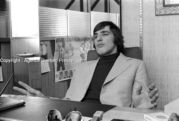 MONTREAL, CANADA -  File Photo - Serge Savard in 1973