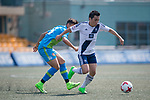Bayer Leverkusen (in blue and green) vs HKFC (in white), during their Main Tournament Plate Quarter-Final match, part of the HKFC Citi Soccer Sevens 2017 on 28 May 2017 at the Hong Kong Football Club, Hong Kong, China. Photo by Marcio Rodrigo Machado / Power Sport Images