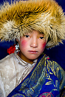 Kham, Tibet 2005. Tibetan girl in Nanyengou, Kham, Tibet, 2005